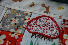 Scrappy Mug Rug Swap Sneak Peek (Tiny House) Tags: