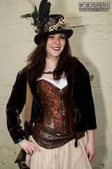 IMG_9510.jpg (Neil Keogh Photography) Tags: skirt whitbygothweekend steampunk bronze dress clockwork brown jacket corset goth copper blouse clasps tophat wgw leather whitbygothicweekendapril2017 feathers black gothic hat cream whitby cogs