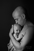 Daddy with baby girl in black and white (alexander.dischoe) Tags: portrait blackandwhite bw sw schwarzweiss gesicht face nikon d800 nikond800 nikkor2470mm studio mann charakter babygirl care love