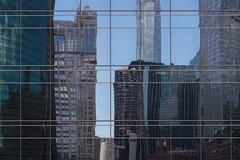 Reflection of Chicago (Jovan Jimenez) Tags: reflection chicago sony ilce 6500 a6500 skyline alpha 50mm nikon eseries e series pancake lens manual street architecture focus architectural buildings windows reflected distorted lines close up abstract seriese