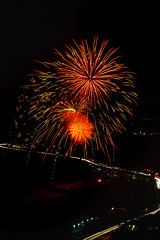 61 (morgan@morgangenser.com) Tags: pacificpalisaddes beach belairbayclub blue celebrate fireworks color iso100 july3rd loud nikon night ocean orange pch people red reflection special spectacular streaks timeexposire tripod yellow amazing