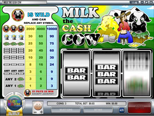 Milk the Cash Cow slot game online review