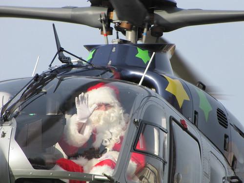 Santa Arrives on Air Bear