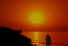 I will always love you ! ( Silhouettes ) (Saad Al-Enezi) Tags: sunset red sea woman sun man guy love water girl sunshine silhouette lady gold golden nikon couple gulf you silhouettes lovers will arab always kuwait baech orangecolour i saadalenzi kuwaittowersbeach arabaingulfstreet