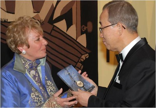 Loula Alafoyiannis is old friends with the U.N. Secretary General Ban Ki-moon.