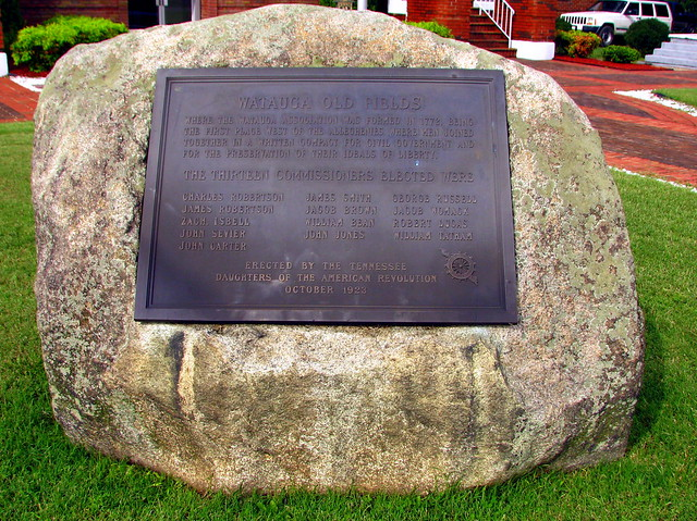 Watauga Old Fields marker