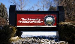 New campus sign from South Atlantic Street