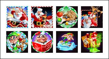 free Santa Strikes Back slot game symbols