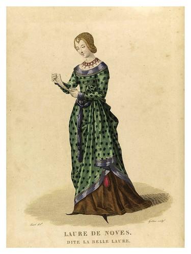 002-Laure de Noves llamada la bella Laura 2-Galerie Française de femmes célèbres 1827- Louis Marie Lanté