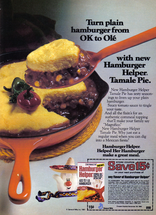 Vintage Ad #989: Turn plain hamburger from OK to Ole!