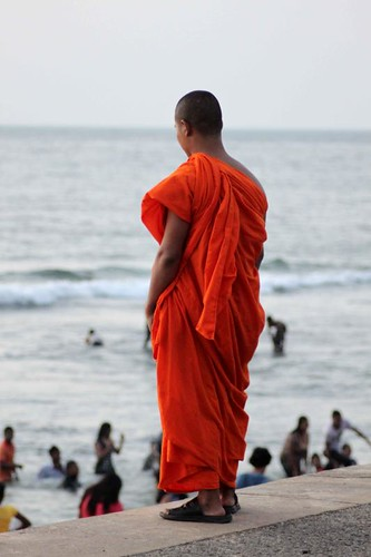 Monk at the seaside