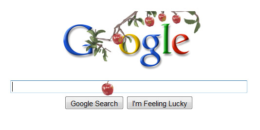 4245813026 44a8a06caf o Isaac Newton on Google logo with dropping Apple