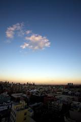 Rainbow Sunrise (dubbie) Tags: nyc pink sky newyork travelling les clouds sunrise holidays lowereastside cityscapes skylines canonef1635mmf28lusm canoneos1dsmarkiii