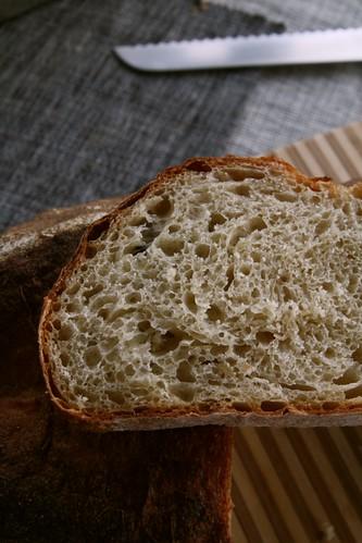Rebanada de pan de papas