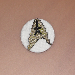 stlogogoldonwhitem (anonymityblaize) Tags: startrek crossstitch geek badge button gqmf