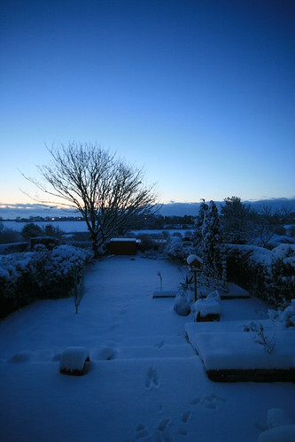 Snowy dawn at St Margaret's-at-Cliffe