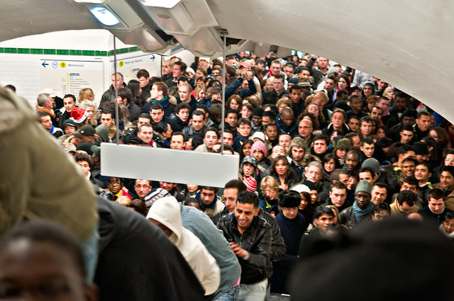 metro crowded people
