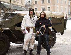 trigger discipline (legrys) Tags: winter snow truck soldier military warsaw ppsh