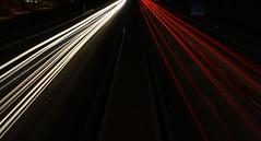 Highway (Christo1984) Tags: longexposure canon germany bayern deutschland bavaria licht nacht autobahn franconia franken belichtung bayreuth lichter a9 langzeitbelichtung oberfranken langebelichtung canoneos1000d
