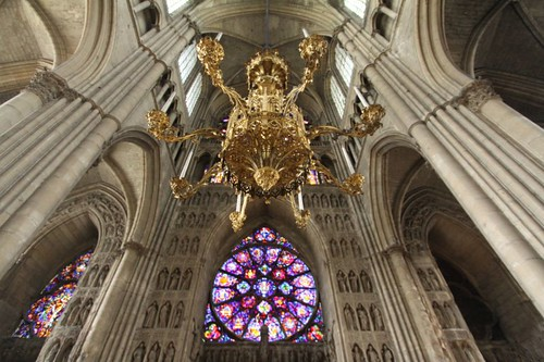 Inside the magnificent Cathedral in Rheims, France.