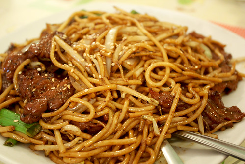 Fried Spaghetti with Black Pepper Beef
