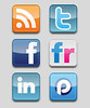 iconos RSS twitter Facebook