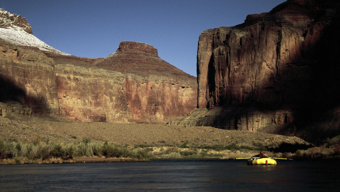 Small raft, big canyon.