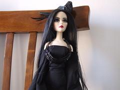 Ossidiana (Akemi^_^) Tags: red black cute bird fashion japan wonderful dark tim eyes punk doll dress purple wilde gothic vinyl lips wig bjd cloth burton eternal addams ghastly evangeline morticia tonner sybarite ossidiana ellowyne