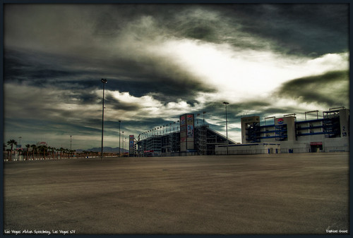 las vegas motor speedway logo. This is a shot i took of the Las Vegas Motor Speedway while out this morning. I was going to crop this picture down some to remove some of the parking lot