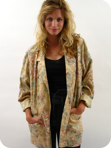 80'S GOLD BROCADE BLAZER