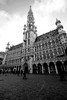 town hall. (Miss Britt) Tags: brussels blackandwhite bw detail architecture canon europe belgium eu bruxelles sigma cobblestone townhall 1020mm majestic overexposedsky