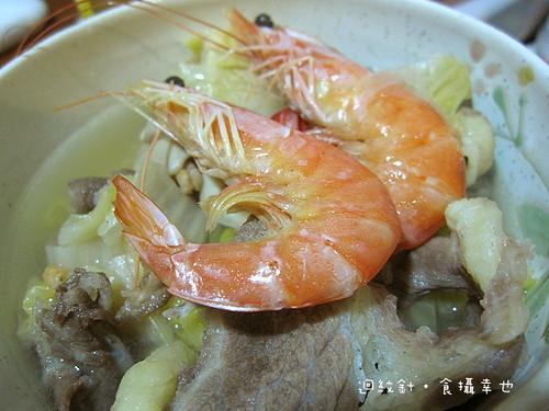 紫金堂年菜酸菜白肉鍋蝦子仔細看