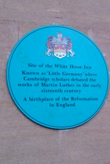 Photo of White Horse Inn, Cambridge blue plaque