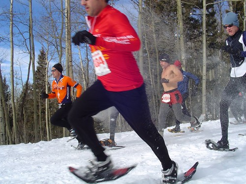 Start of the Santa Fe Snowshoe Classic