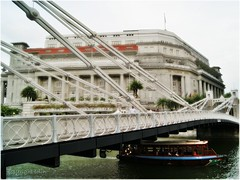 Boat Quay (Colin Lim) Tags: bridge evening boat singapore sony boatquay singaporeriver thefullertonhotel buildingstructure a230l