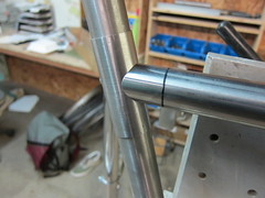 seat tube sleeve and miter (Hufnagel Cycles) Tags: bike handmade steel awesome custom brass cycles internal integrated fillet seatpost brazed hufnagel