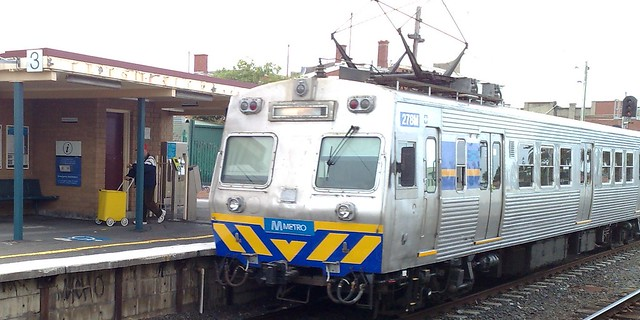 Hitachi train at Bentleigh
