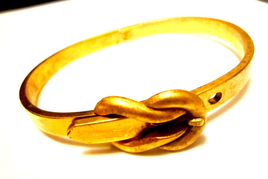 christopher19 gold buckle bangle 3