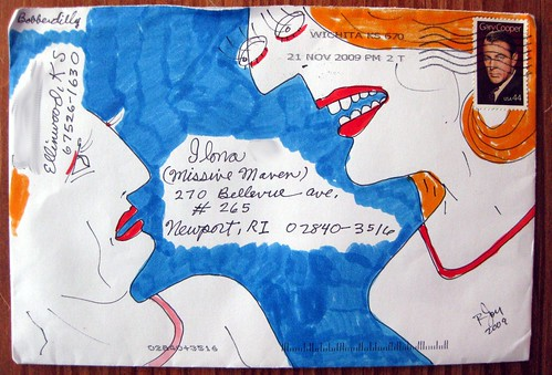 Bobberdilly's mail art envelope
