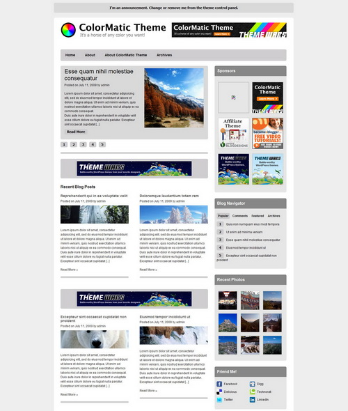 ColorMatic   ThemeWars Premium WordPress Theme
