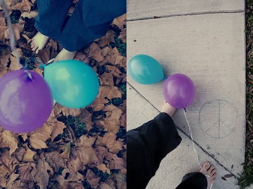 balloon journey diptych