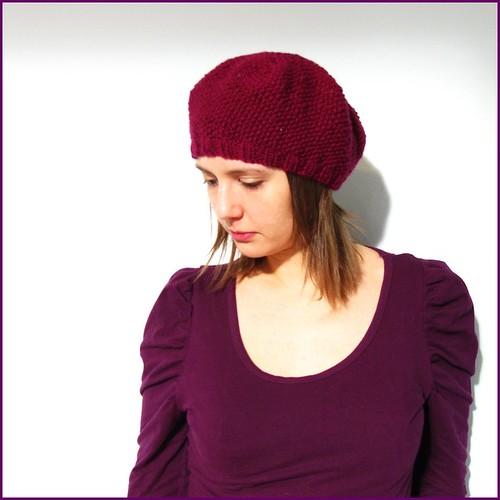purple sophie beret