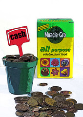 Growing rich (Alan Cleaver) Tags: money personal coins rich cartoon cash credit penny advice investment pennies wealth finance debt finances debit personalfinance financialplanning financeadvice