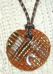 "Jewelry Ceramic Pendant ""City Grid"" (Patricia Lazar : Ceramic Art : Teapots : Pet Paint) Tags: jewelry pendant citygrid ceramicpendant patricialazarart"