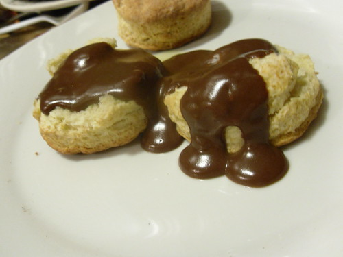 Biscuits with Chocolate Gravy