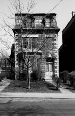 Historic photo from Sunday, April 17, 1988 - 377 Sackville St - Built in 1876, Bryce & Hagon, Builders. A City of Toronto Heritage structure. in Cabbagetown