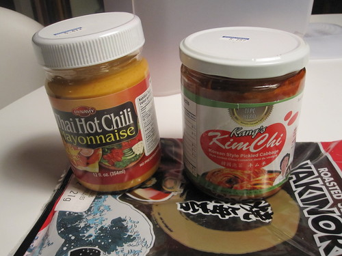 Nori, Hot chili mayonnaise, Kim chi from the Japanese grocery store near Vic Park - $16.85
