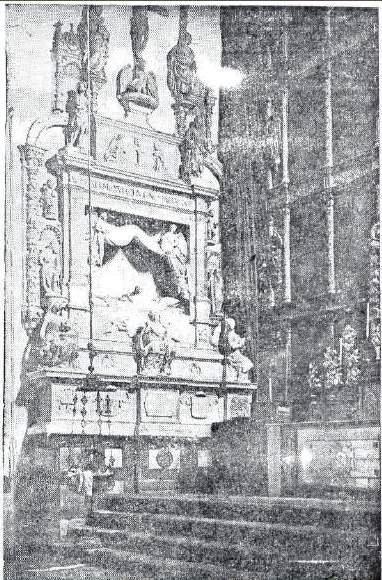 Revista Siglo Futuro. Sepulcro de Fray Francisco Ruiz en el Convento de San Juan de la Penitencia en 1935