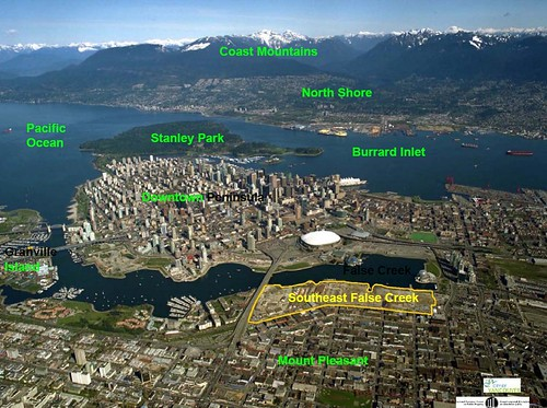 Vancouver, showing site of SE False Creek Olympic Village (by: city of Vancouver)