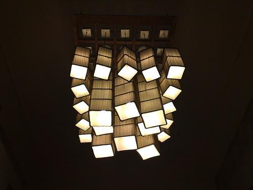 Ramen Ya's lights, inside